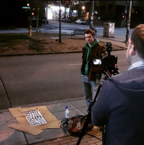 Filming a viral video (March 2015)